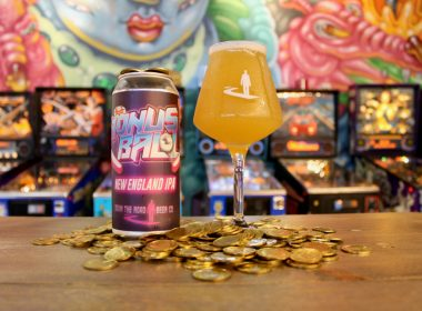 "Down the Road Beer Company is releasing the ""Bonus Ball New England IPA,"" the first in a line of arcade-inspired hoppy brews."