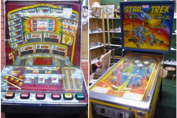 Star Trek pinball machine with some other game