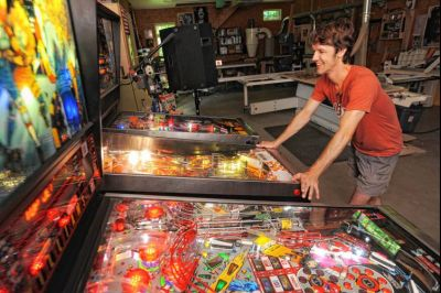 The Recorder - Keeping classic hobby alive, Greenfield man restores old pinball machines