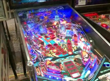 Demolition Man Pinball Machine at 34th Annual Pinball Expo in Chicago, 2018