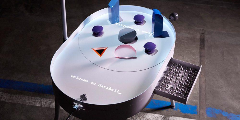 Playful pinball machine by felix mollinga visualizes the flow of personal data