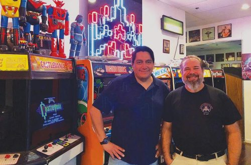 Among the clatter of pinballs racking up points and soda cans being popped open are the sounds of children laughing and people smashing buttons on video games at Starfighter's Arcade in Mesa, AZ.