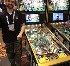 No signs of Stern Pinball slowing down as lines of people waiting to play machines in Stern's IAAPA booth is testament to popularity of pinball in the US.