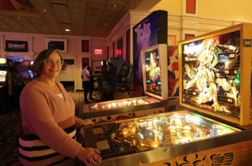 "Pinball tournament raises money for Arc of Atlantic County - ""This isn't your average fundraiser,"" Mary Anne Hills said as she released the plunger on the pinball machine, sending the silver ball up and around obstacles."