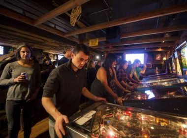 Pittsburgh Pinball tournament packs Beehive Coffeehouse as thirty-seven competitors registered to compete in the tournament Tuesday night.