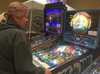 "Channel Your Inner Pinball Wizard At ""Pincinnati"" with blinking lights and bells of more than a hundred pinball machines at the Eastgate Holiday Inn."