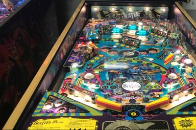 Rare Beatles Pinball Machines being sold by West Michigan gaming retailer | wzzm13.com