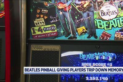 Rare Beatles pinball machine in West Michigan