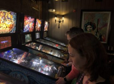 Versus arcade bar and restaurant in Wellesley, Massachusetts features lots of pinball, including Aerosmith, Ghostbusters and Iron Maiden