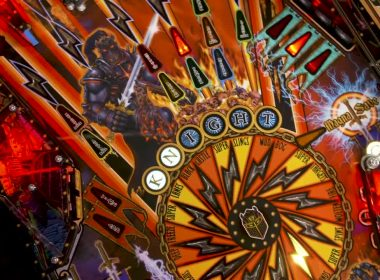 Stern Black Knight Sword of Fury Playfield Closeup