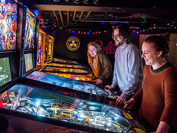 The wizards at Propeller Brewing Co. debut a basement bar with a lineup of pinball machines and video games.