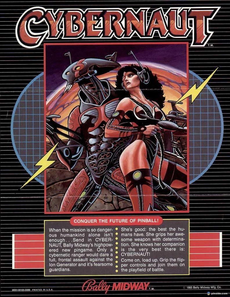 1985 Bally Cybernaut Pinball Flyer (front)