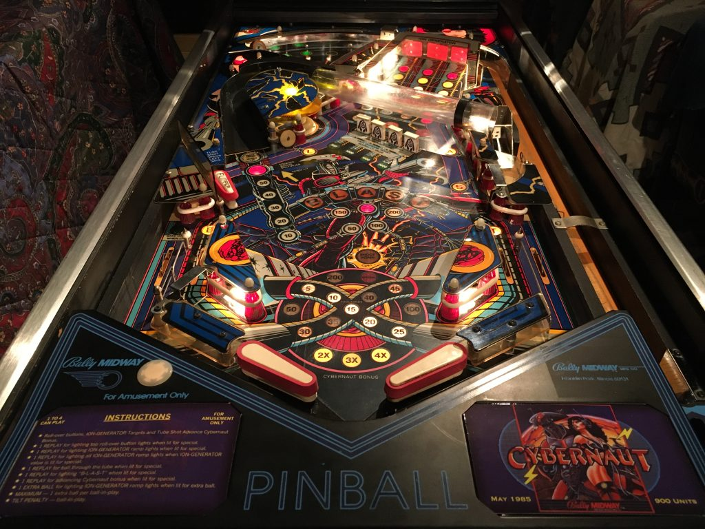 1985 Bally Cybernaut Pinball Playfield Player Perspective