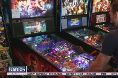Avondale Estates bar scores with pinball collection