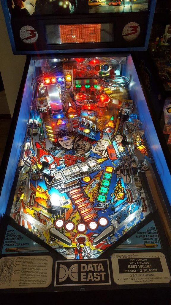 1992 Data East Lethal Weapon 3 pinball play field full