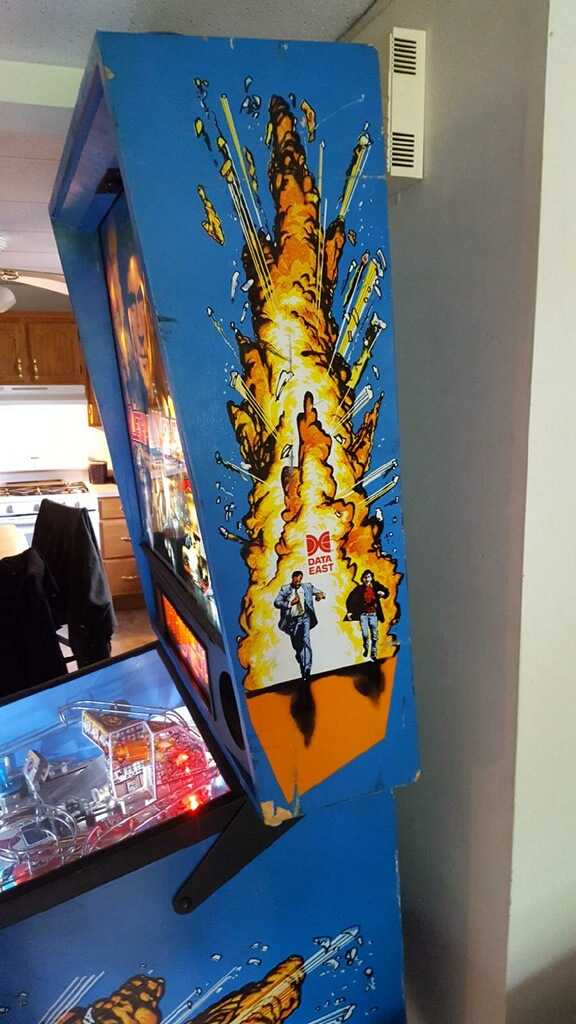 Lethal Weapon 3 Pinball Right Backbox
