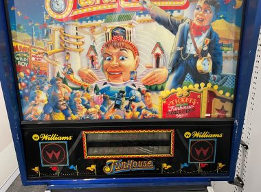 """Detectives from Fortitude Valley CIB are hoping to identify the owner of a """"Williams"""" Fun House pinball machine. The arcade game was located in April 2020"""